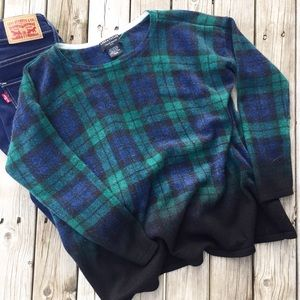 Lord&Taylor Cashmere Plaid Sweater